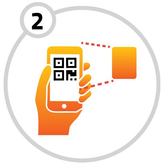 2. QR-kod öppnar dörren
