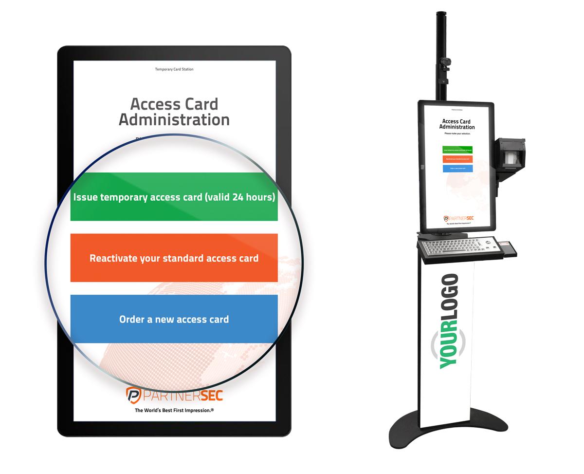 PartnerSec creates a card administration kiosk